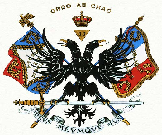 Ordo Ab Chao (Order Our of Chaos) - Motto of 33rd Degree of Freemasonry.